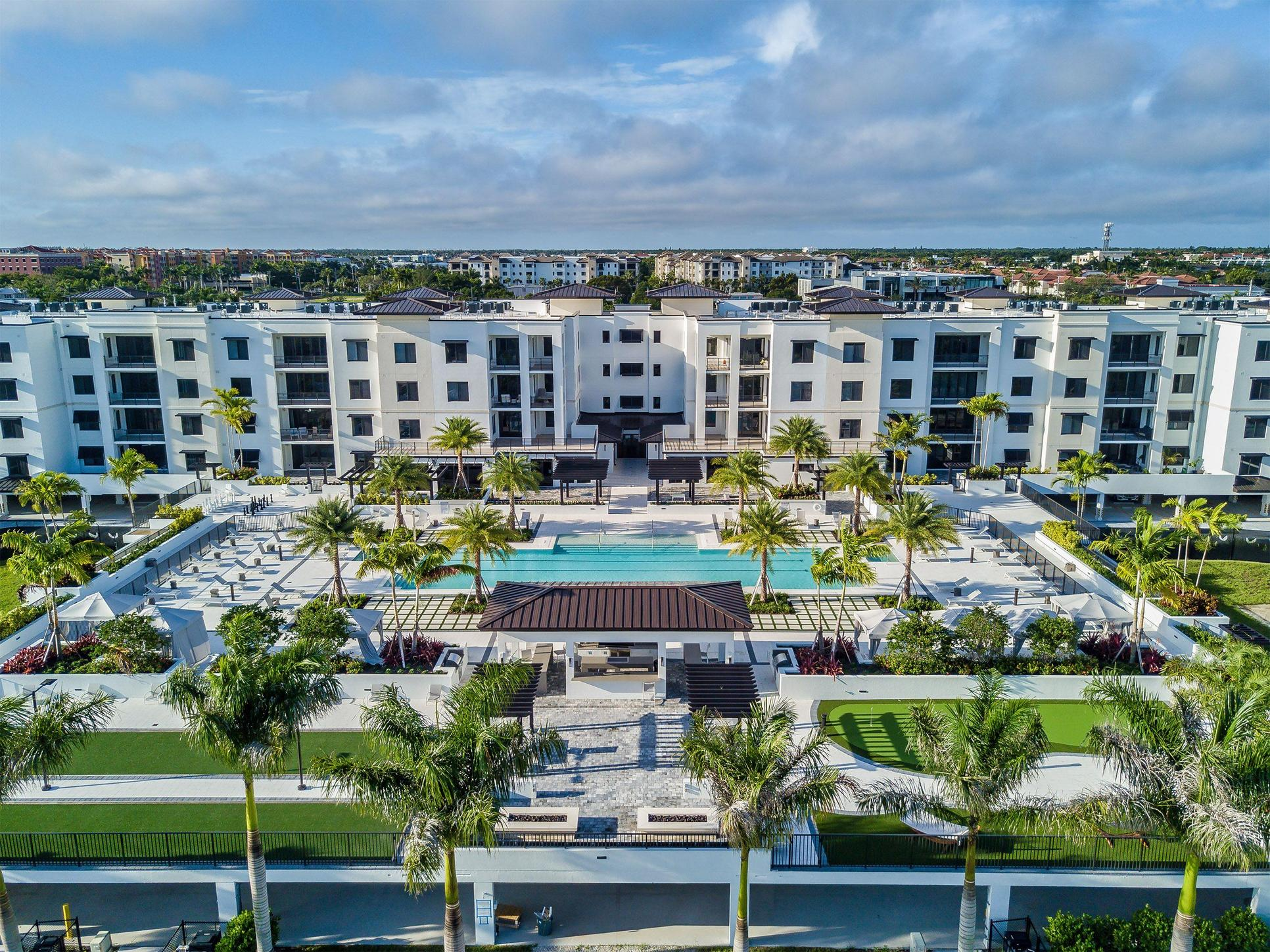 Courtyard Amenities:3,200 S.F. resort-style swimming pool with two 90 ft. lap lanes, cabanas for shade, gas grills, gas-powered fire tables, bocce ball courts, life-size chess game