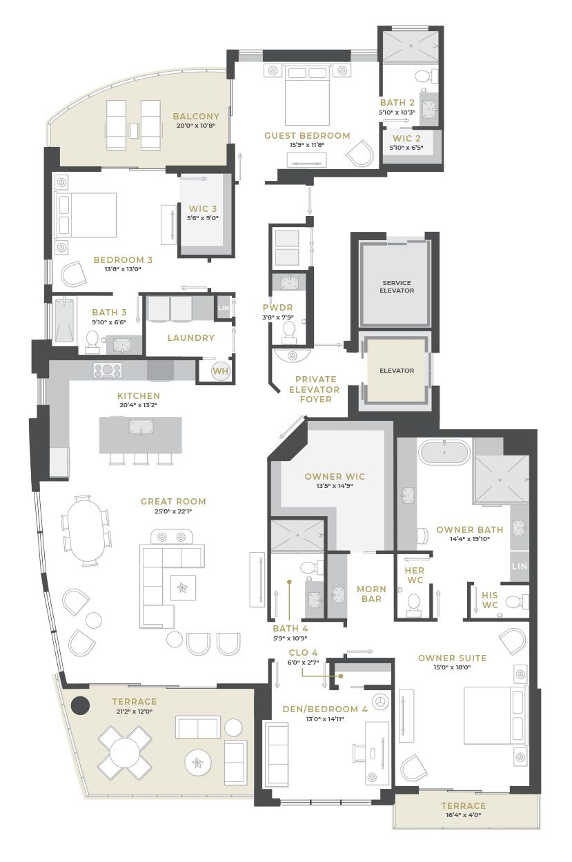 Penthouse 3:Floor Plan