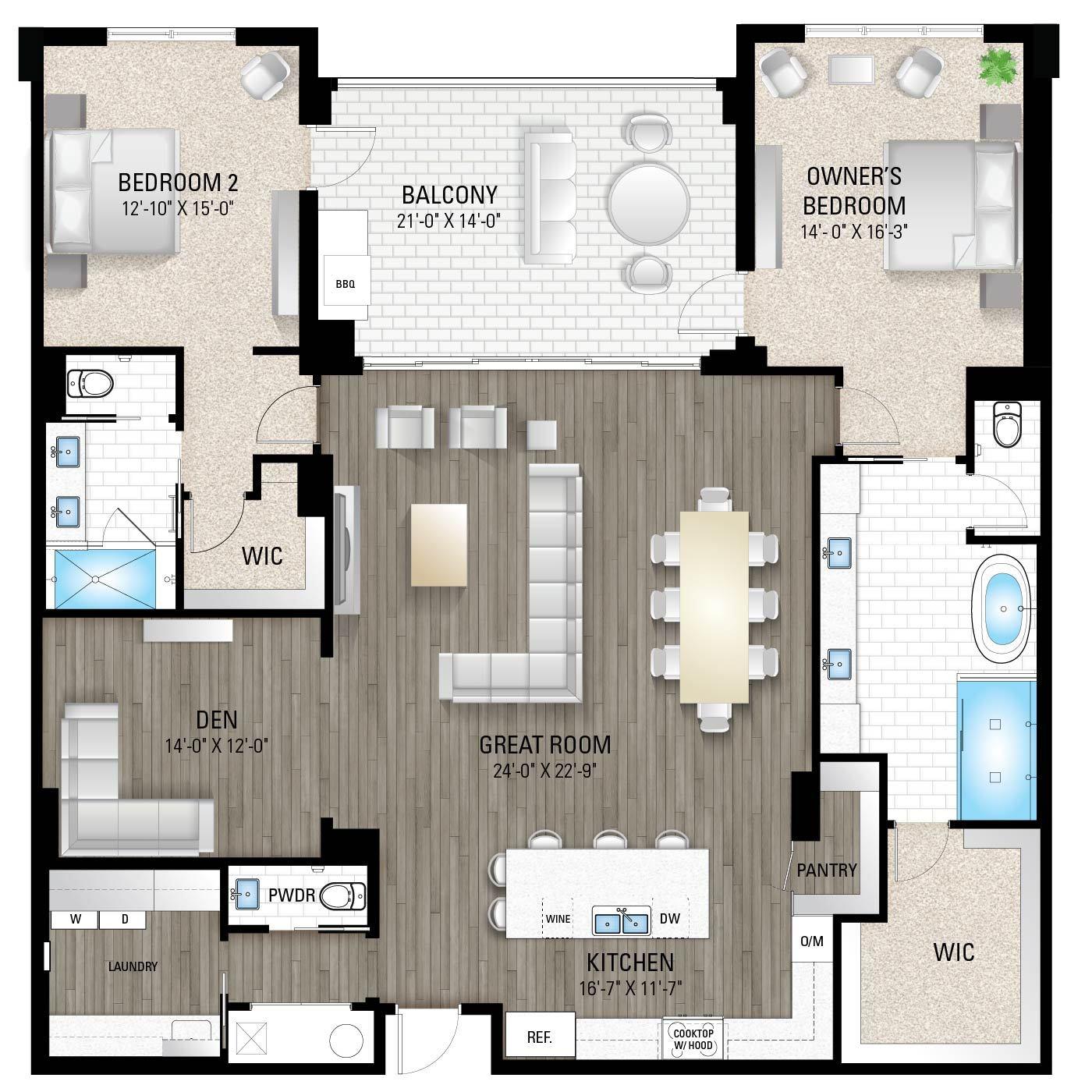 Captiva 3:2 Bedrooms / 2.5 Baths / Den