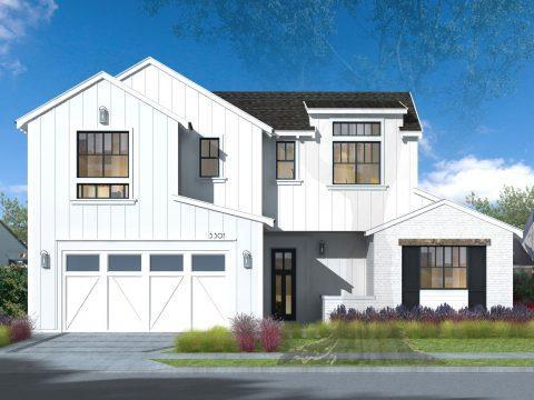 The Olive Collection:Farmhouse Elevation