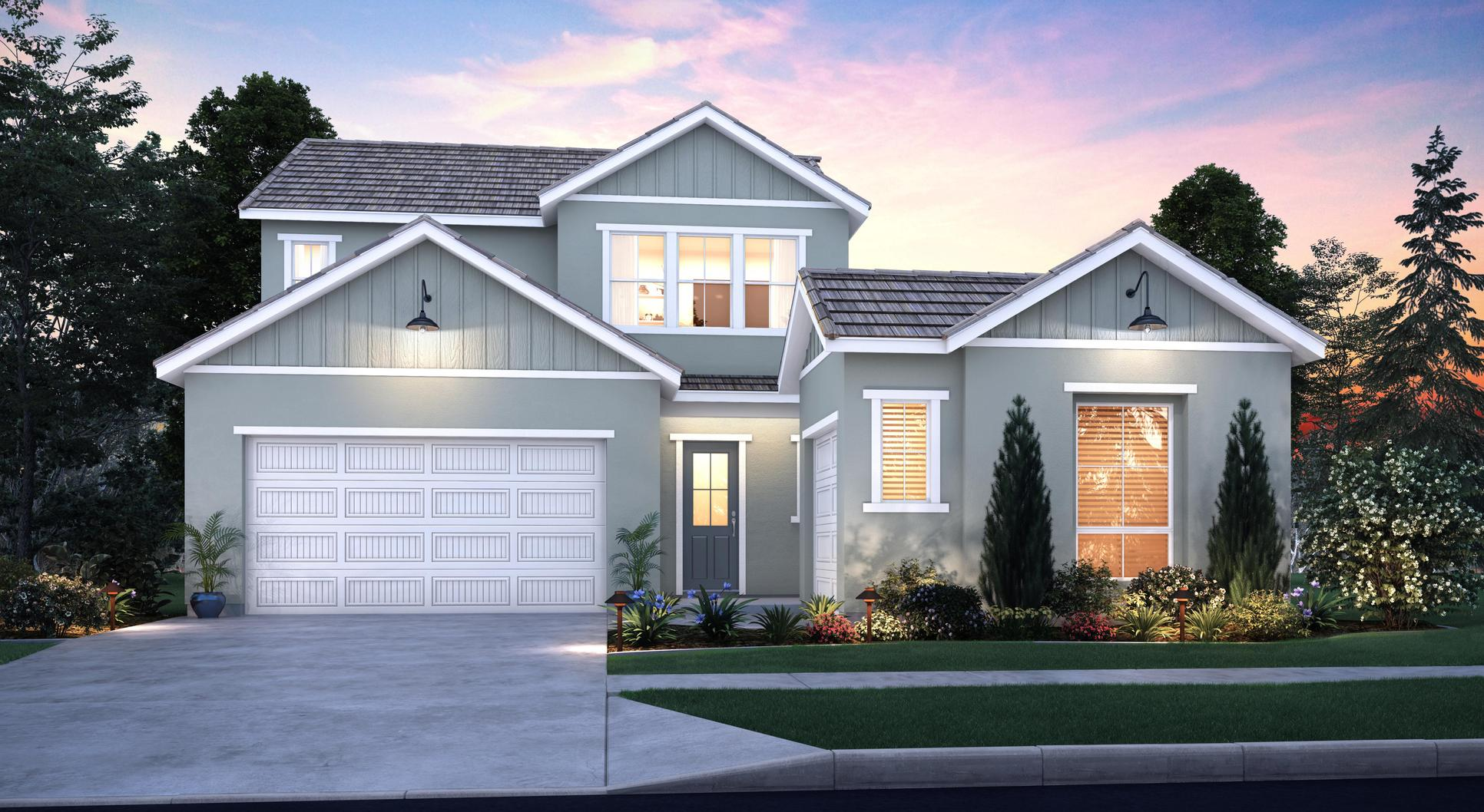 Elevation A:Modern Sierra Ranch