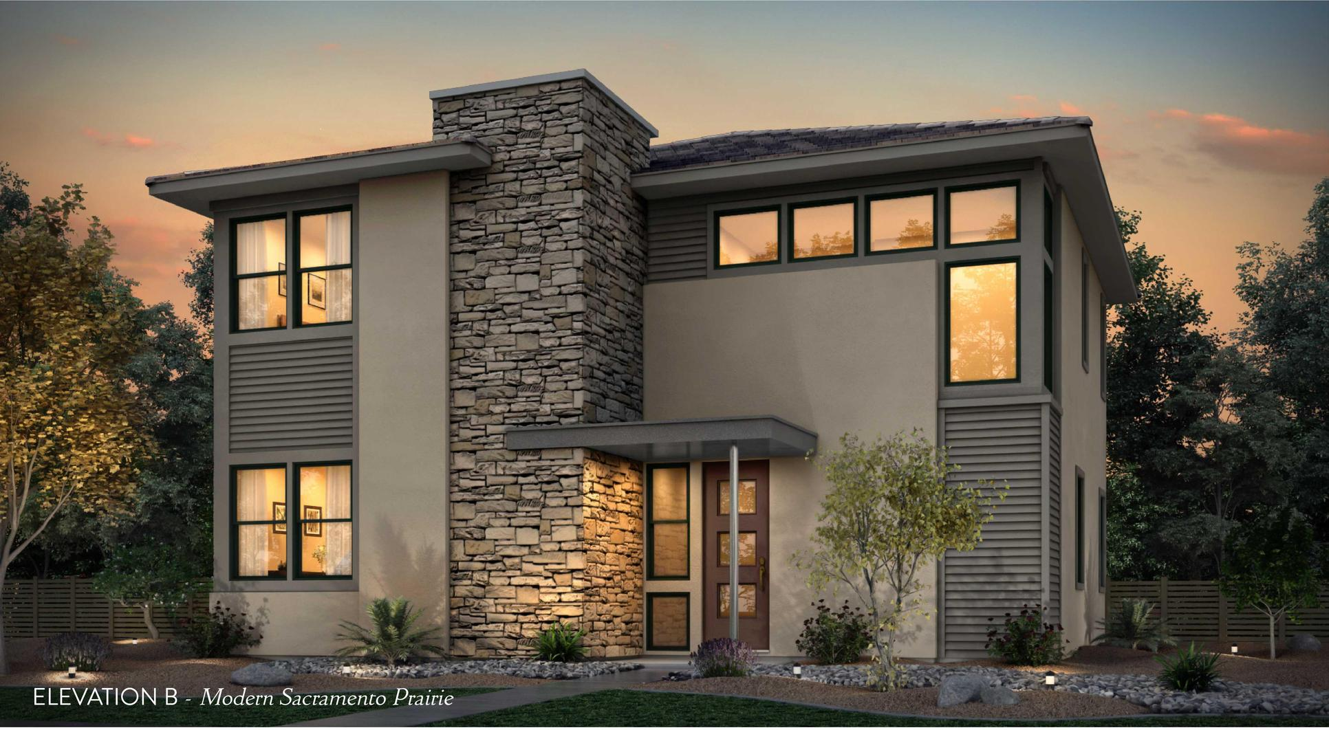 Elevation B:Modern Sacramento Prairie