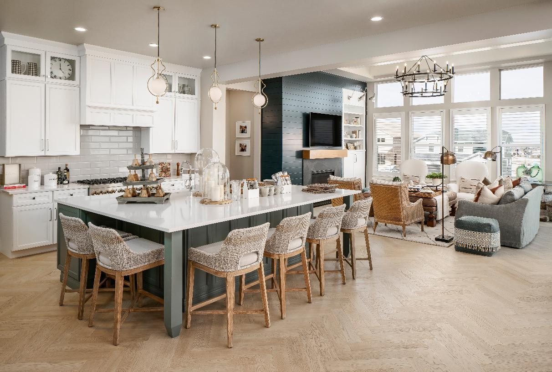 Interior Image:Open kitchen layout