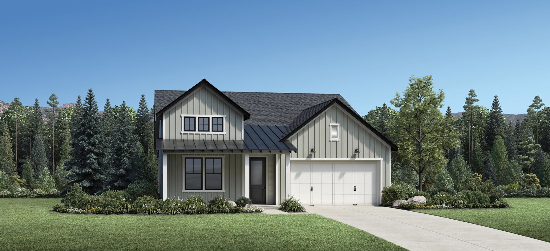 Elevation Image:The Modern Farmhouse