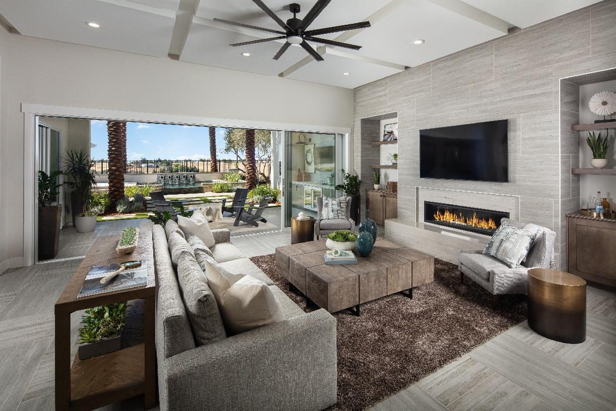 Interior Image:Great room opens to luxury outdoor living space