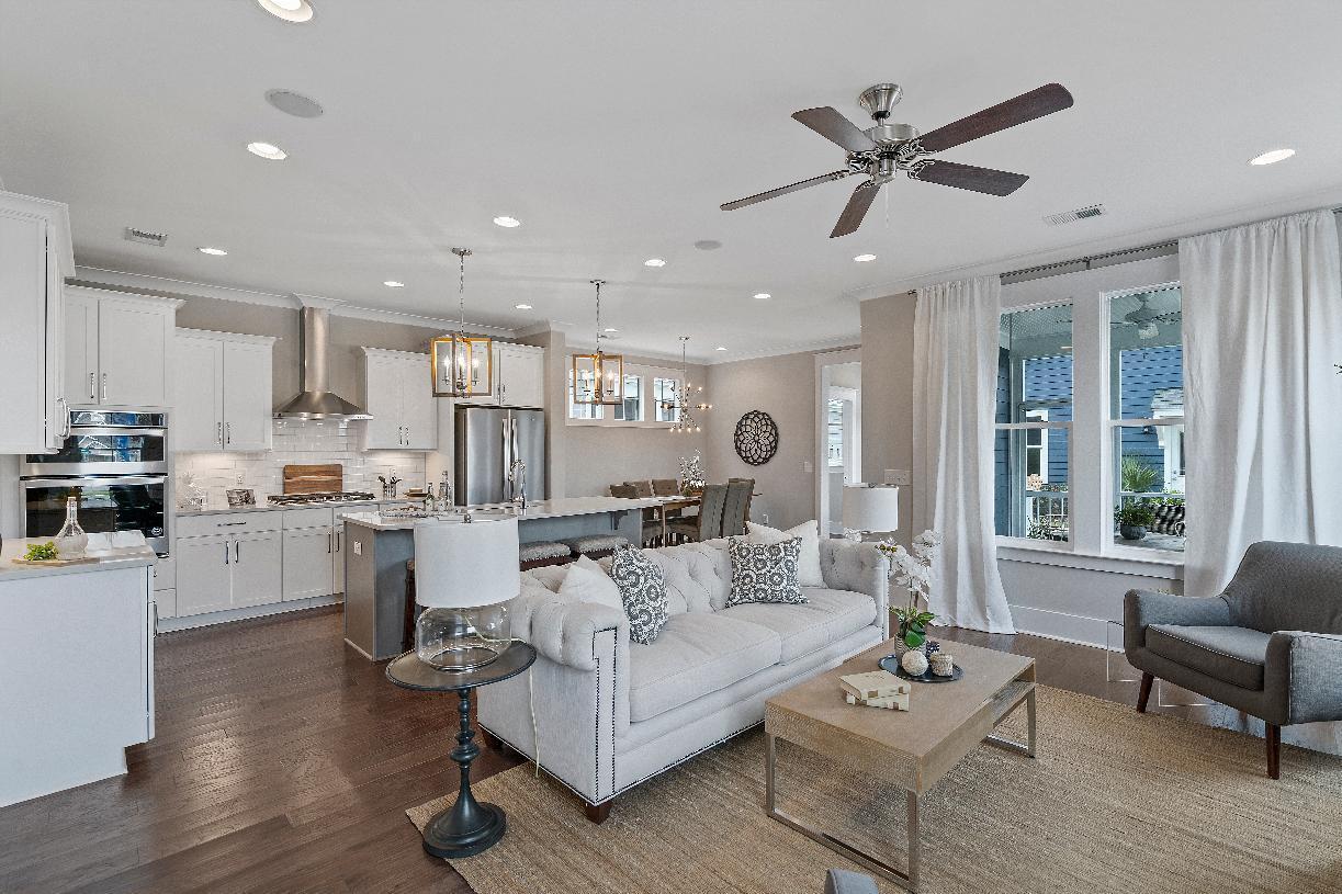 Interior Image:Open concept floor plan for entertaining