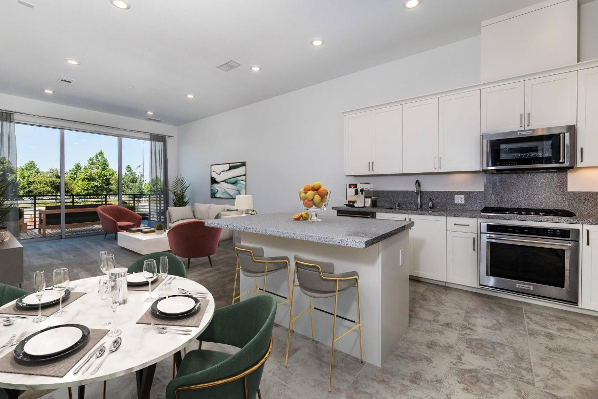 Interior Image:Toll Brothers Westbourne Park at Metro Crossing Gracious Living - Kitchen and Great Room