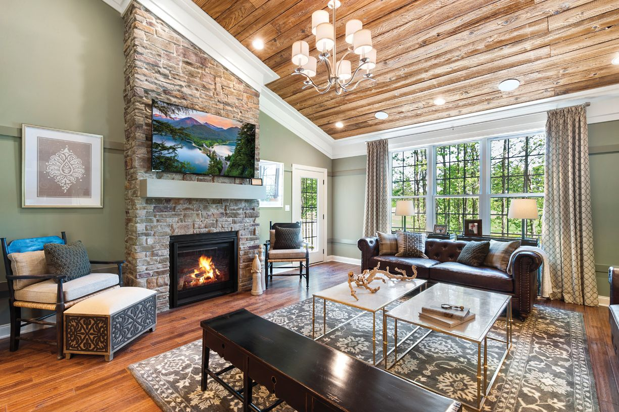 Interior Image:Family room with fireplace