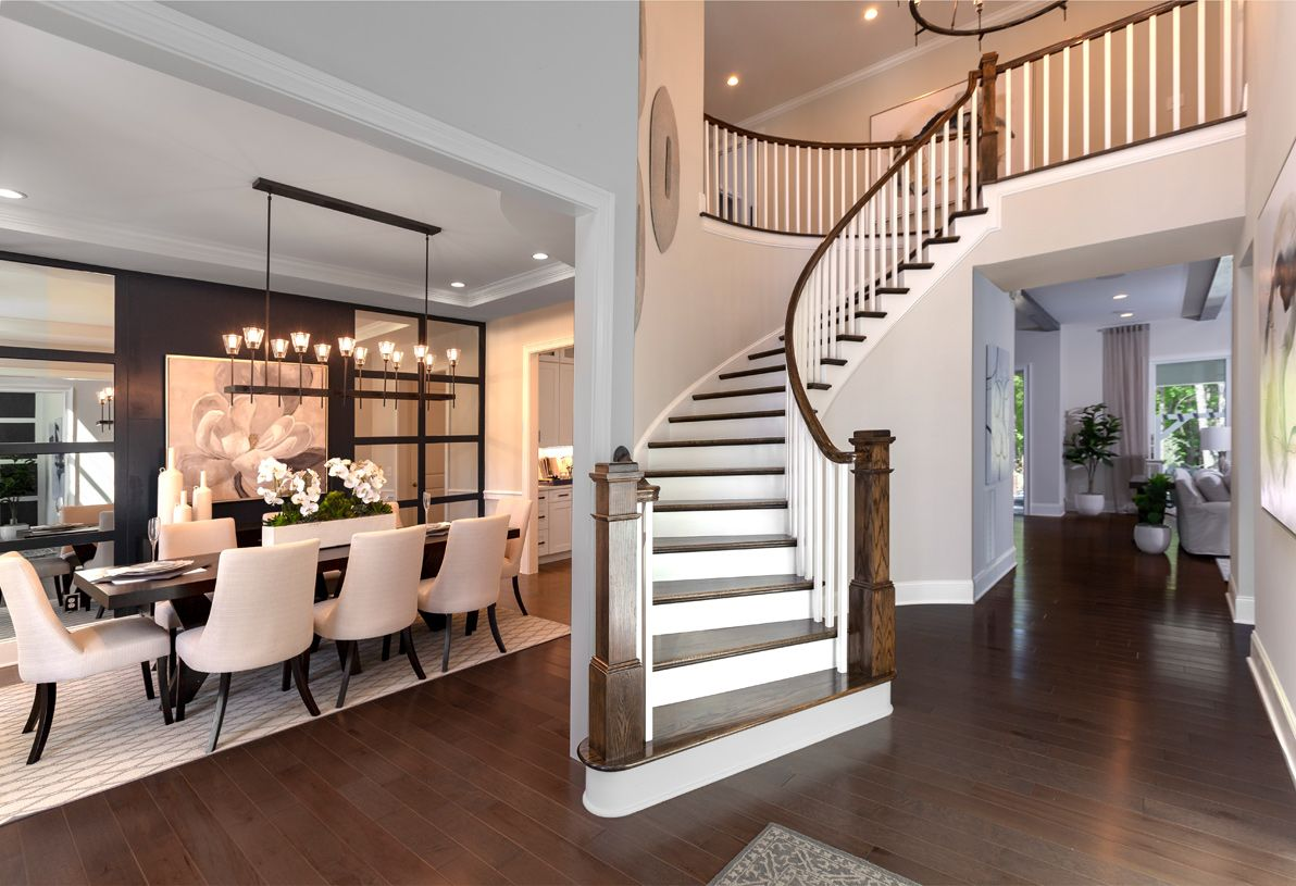 Interior Image:Curved staircase foyer
