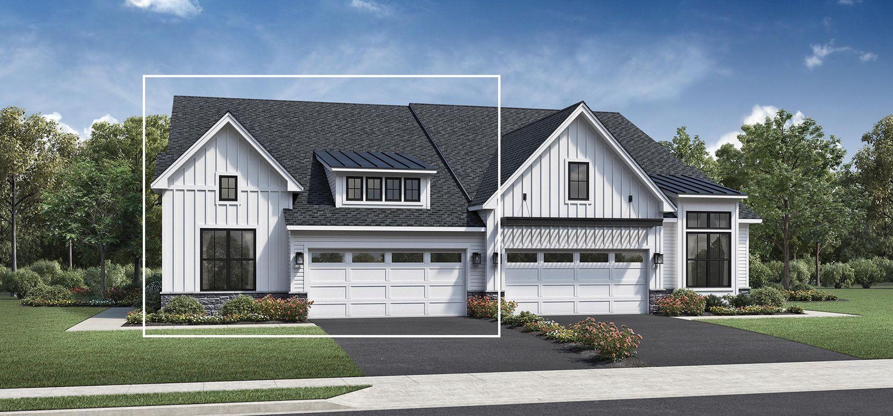Elevation Image:Modern Farmhouse