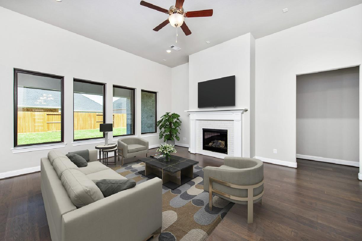 Interior Image:Stylish great room with optional fireplace