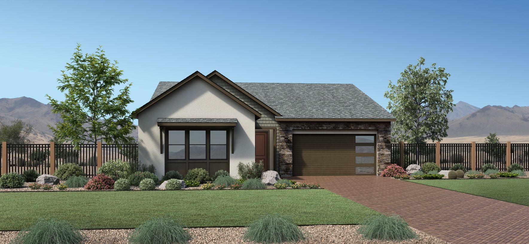 Elevation Image:Modern Ranch