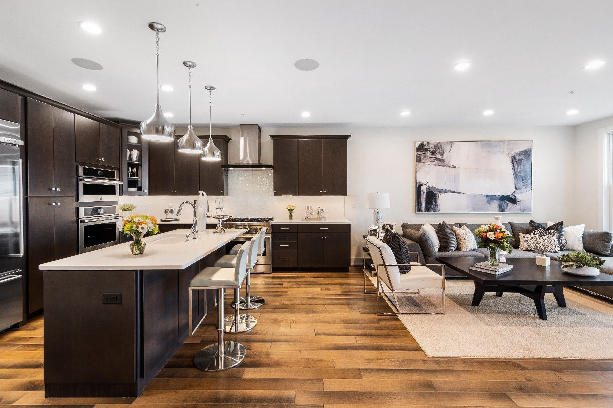 Interior Image:Large kitchen opens to great room