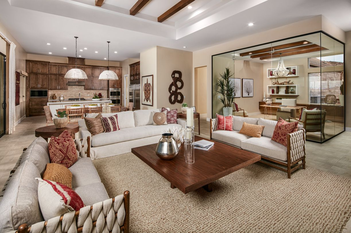 Interior Image:Clairmont open-concept great room and office