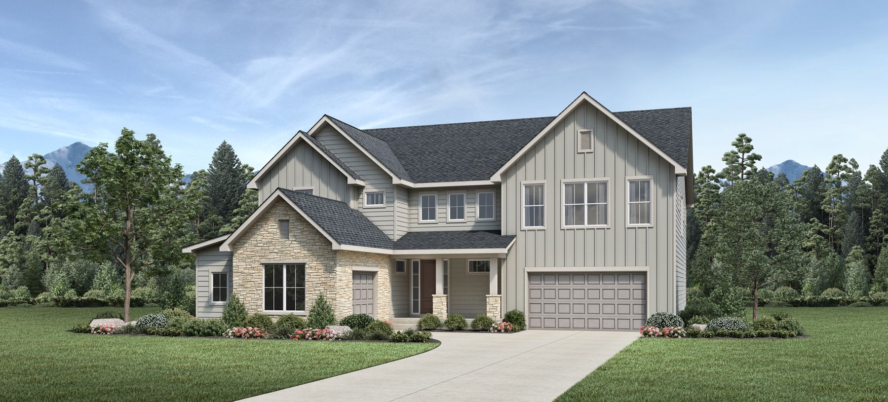 Elevation Image:Modern Farmhouse