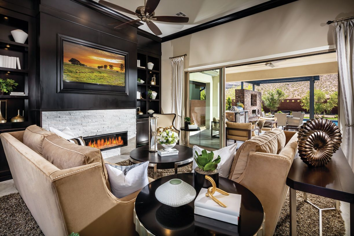 Interior Image:Cozy great room with fireplace