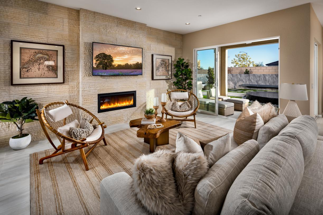 Interior Image:Spacious Great Room with Fireplace