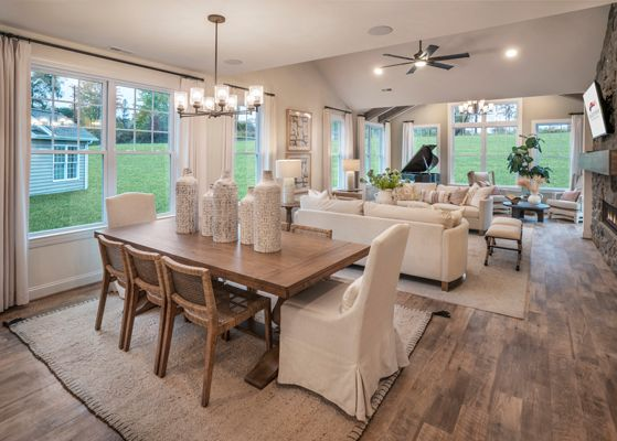 Designer Model Home Interior :The Betsy Ross Great Room