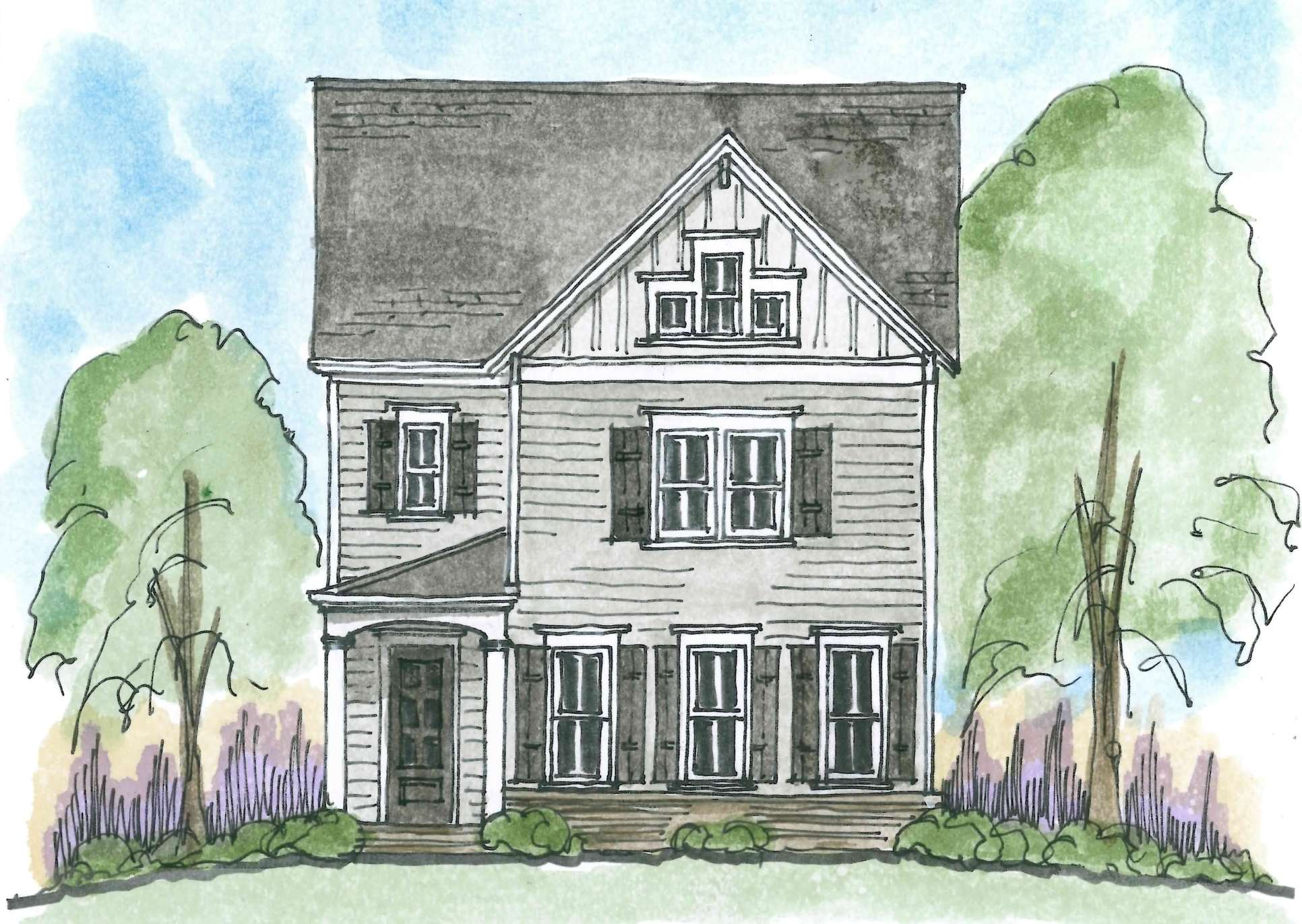 Exterior:Elevation: The Grove at Adams Pond - Campbell A