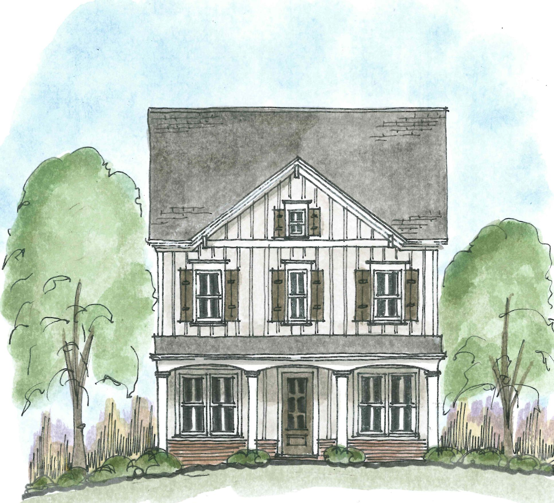Exterior:Elevation: The Grove at Adams Pond - Brawner C