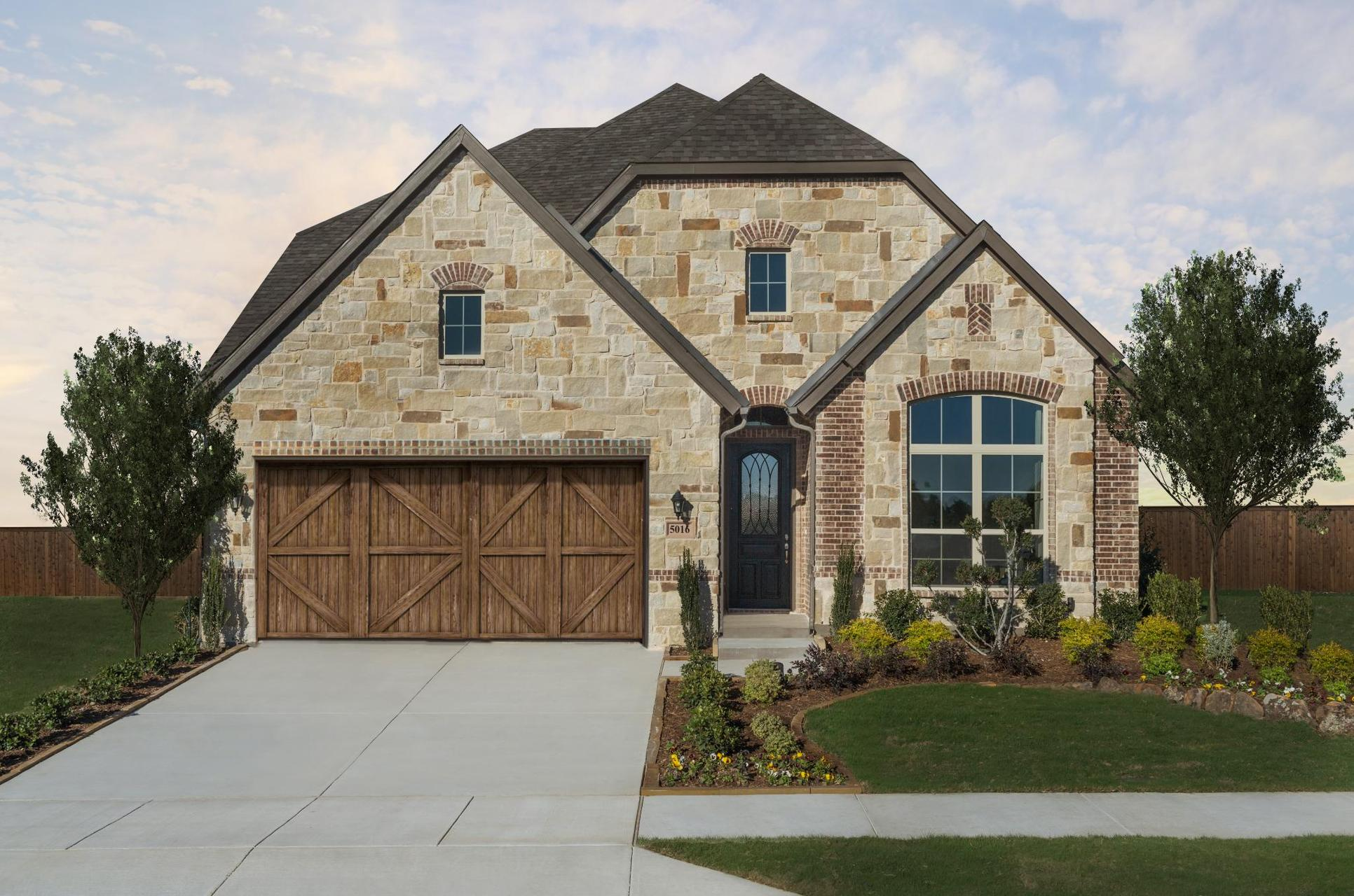 Addison II Floor Plan | Chisholm Trail Ranch Model:Addison II Floor Plan | Front Elevation  | Representative Photo