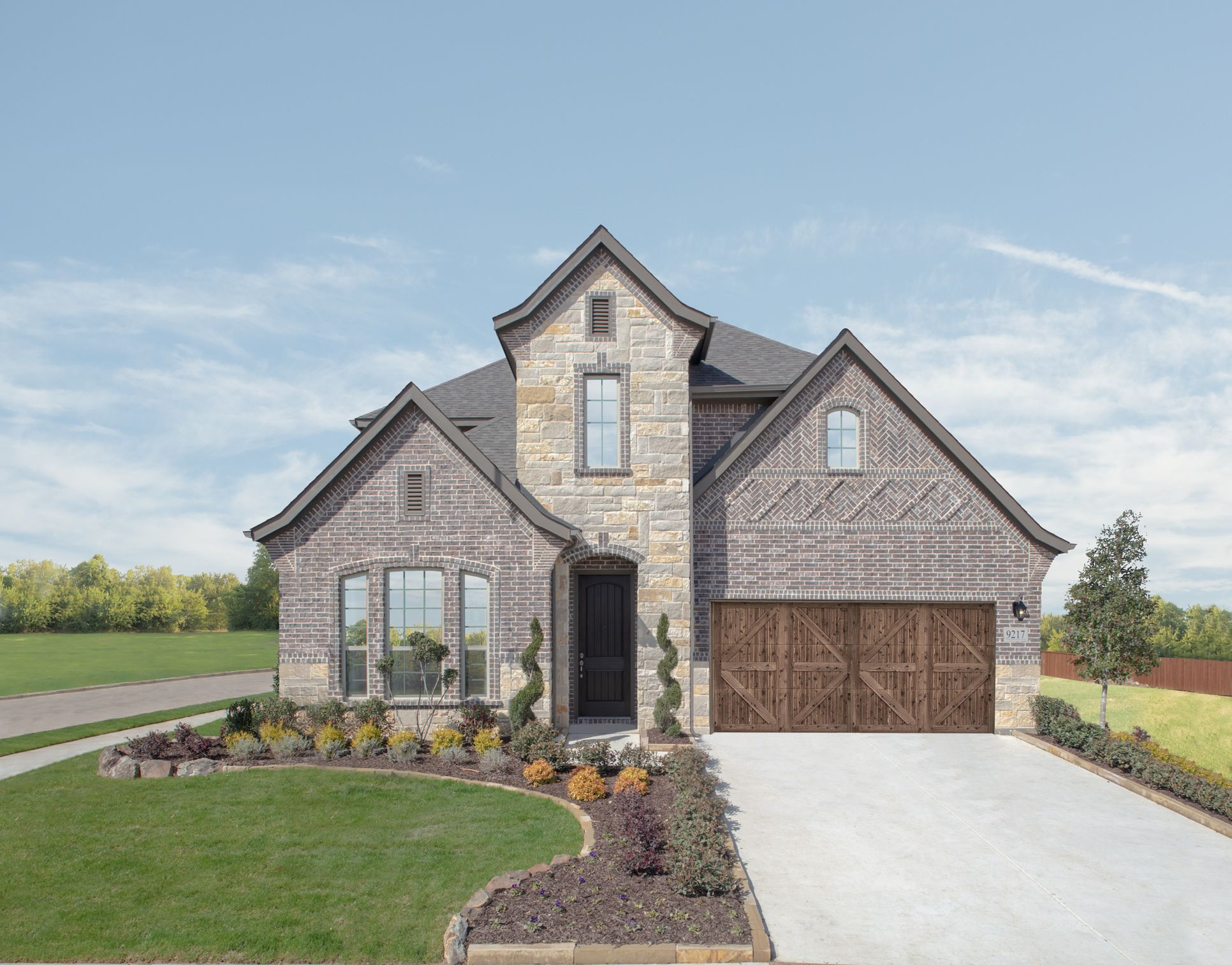 GRZ IMPORT IMAGE:Lakes of River Trails Model Home | Summer Floor Plan | Front Exterior