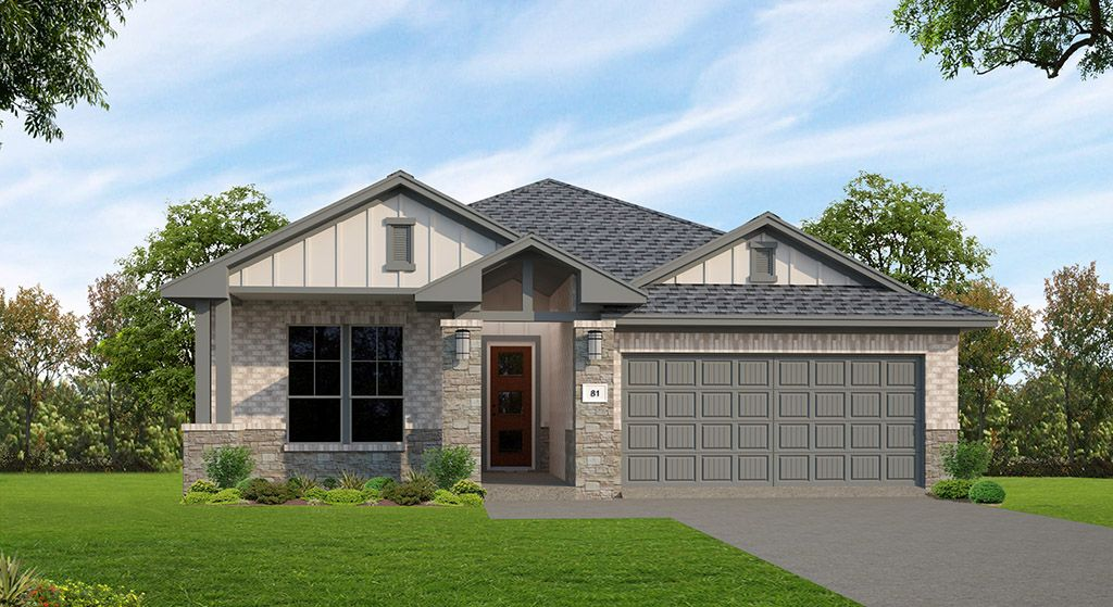 TM TX 81G B:Meridian Floor Plan | Elevation B