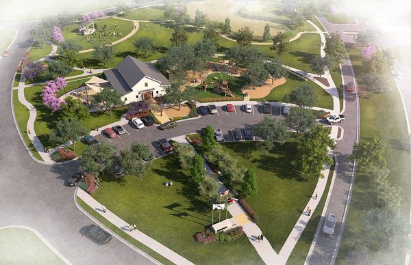 Community Green Rendering Web:Amenities | Rendering of the Community Green at Meyer Ranch