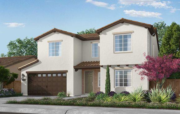 Exterior:Residence 3 Elevation: Adobe Ranch