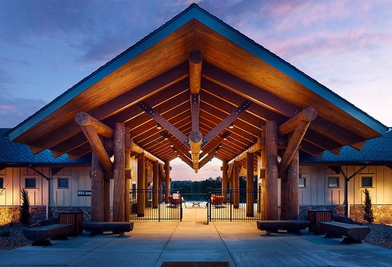 Whispering Pines Clubhouse Front Exterior V2 Web:Whispering Pines - Community Clubhouse