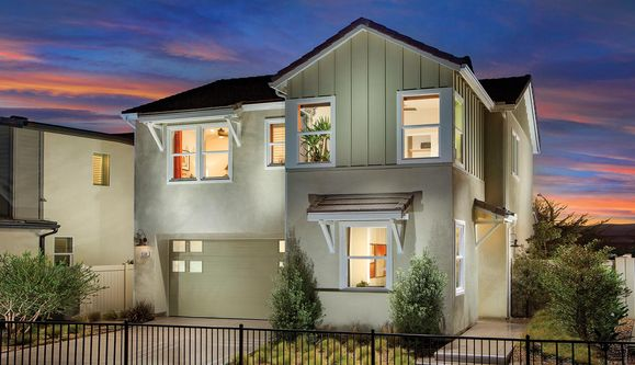 Exterior:Prism at Weston Model Home Exterior | Residence 2BR | Modern Farmhouse Elevation Design