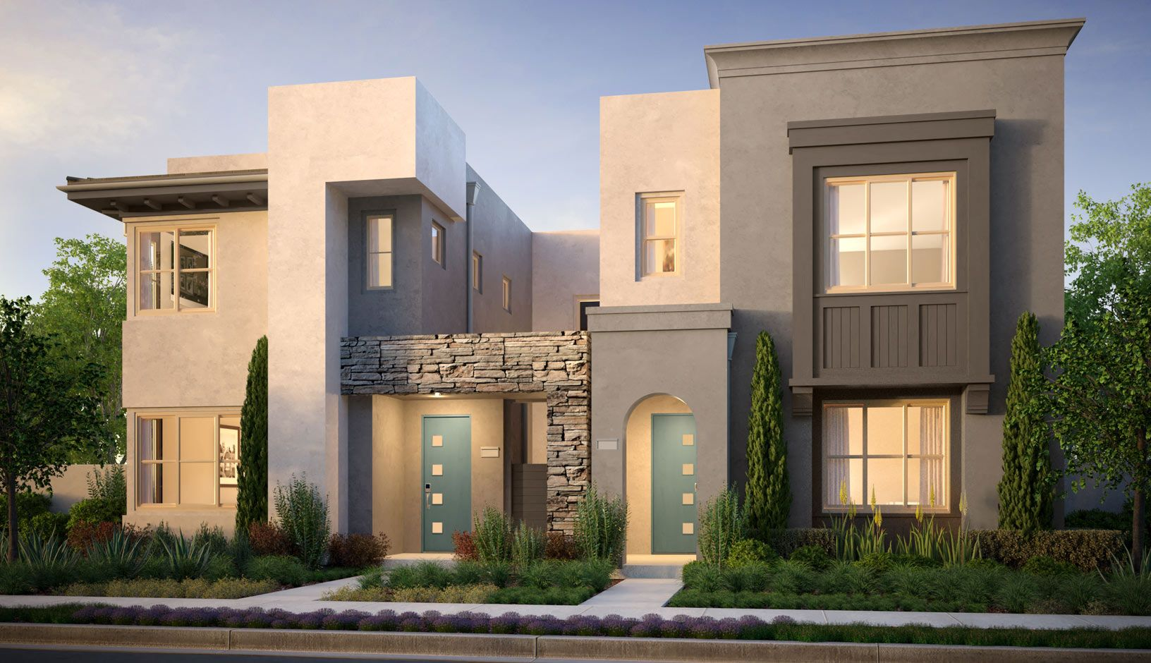 Lyric Residence 1A (Left) & 2A (Right) Rendering