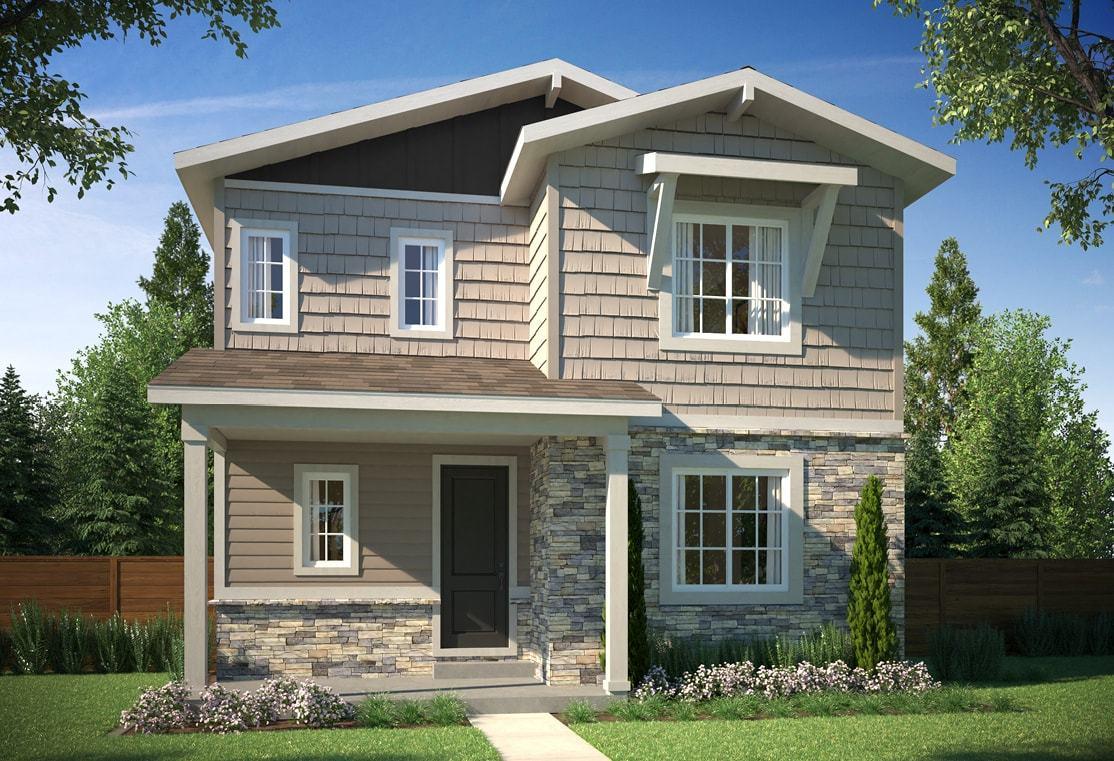 Exterior:Elevation B - Colorado Cottage
