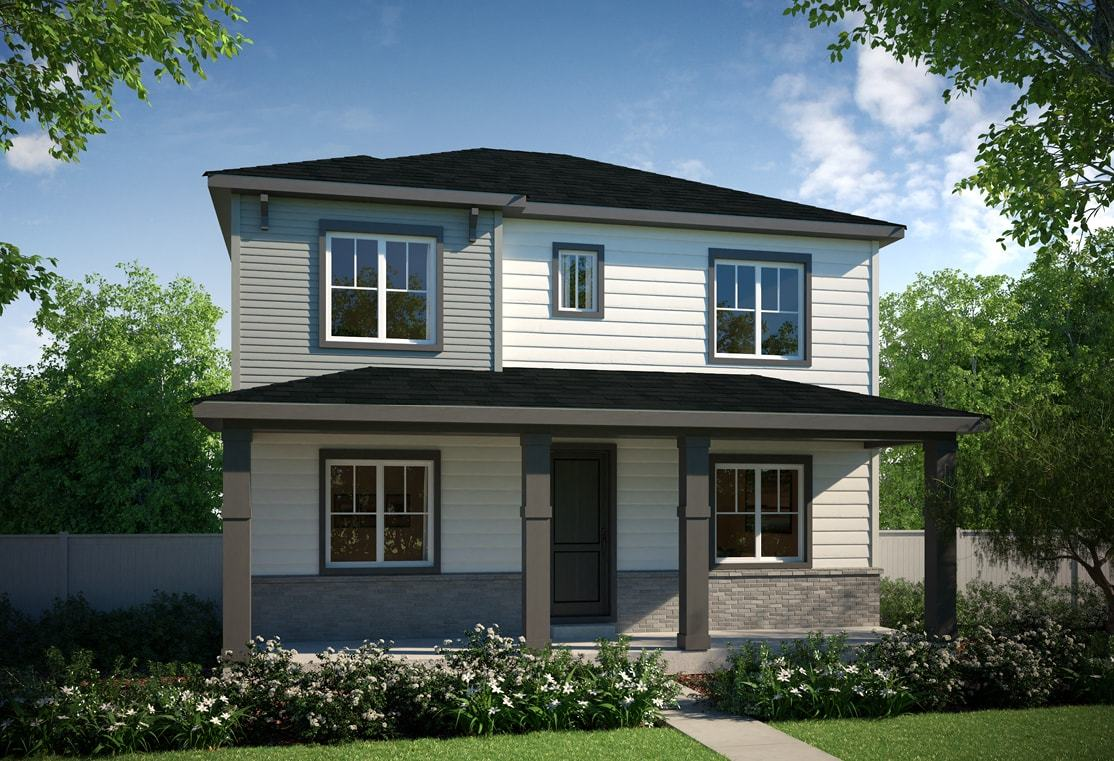 Residence 3202 | Elevation B - Brick Modern Prairie