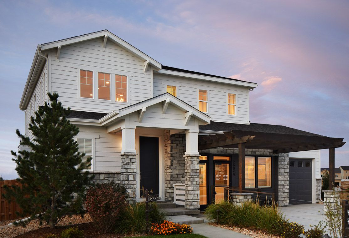 Exterior:Residence 3502 Model Home | Craftsman Style Exterior