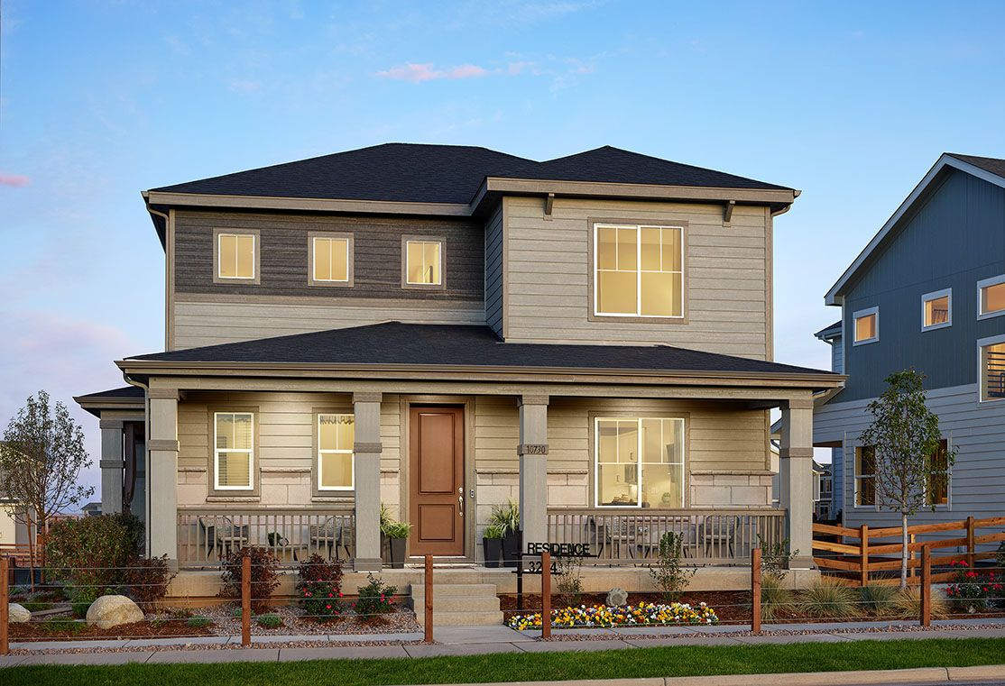 Exterior:Residence 3204 Model Home | Modern Prairie Style Exterior