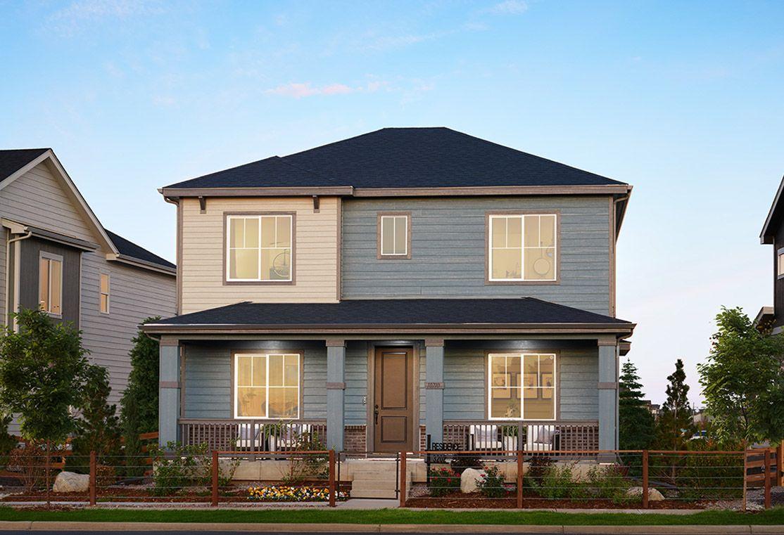 Residence 3202 Model Home   Modern Prairie Style Exterior
