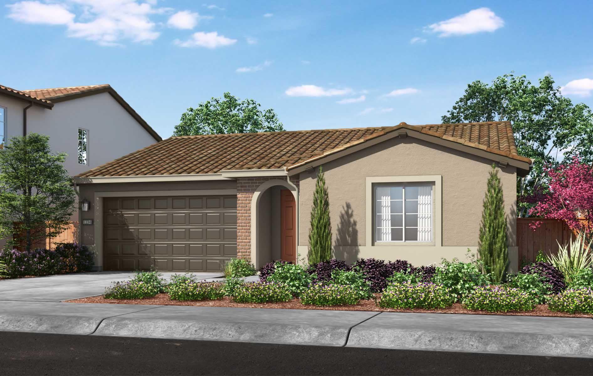 TPH-residence-BS_PD_TriPointe-SAC_La-Madera_Plan-1:Plan 1 Exterior Style: Adobe Ranch