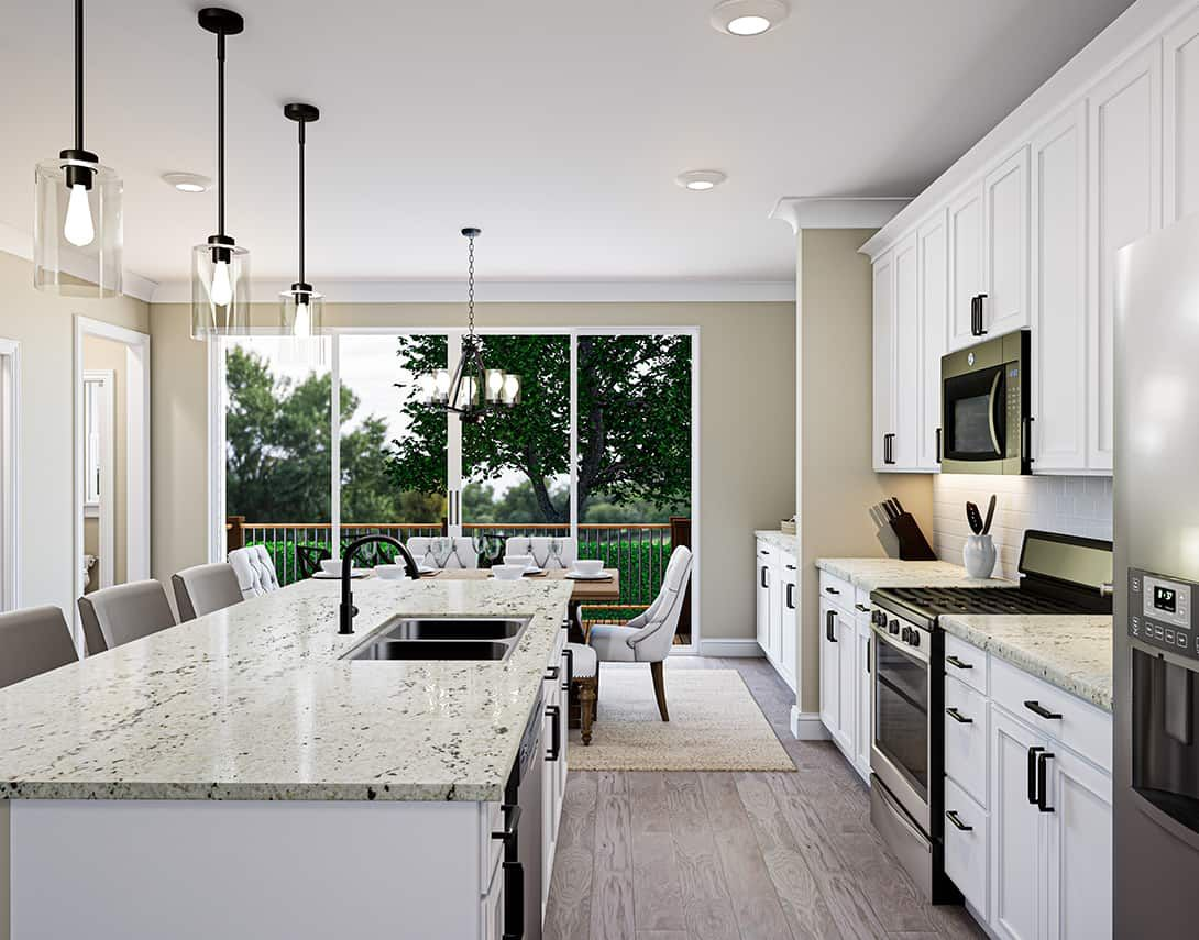 Interior:Townes at North Salem | Residence 1- Kitchen