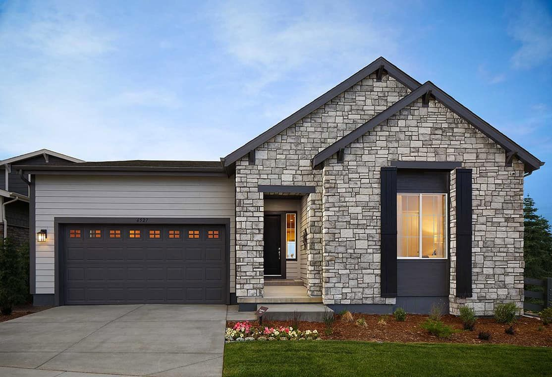 Plan 4501 Model Home | Modern Ranch Style Exterior