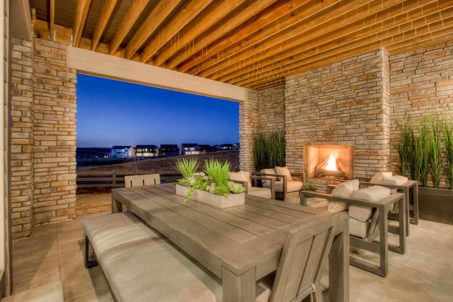Plan 4504 | Covered Patio:Example of Residence 4504 | Covered Patio