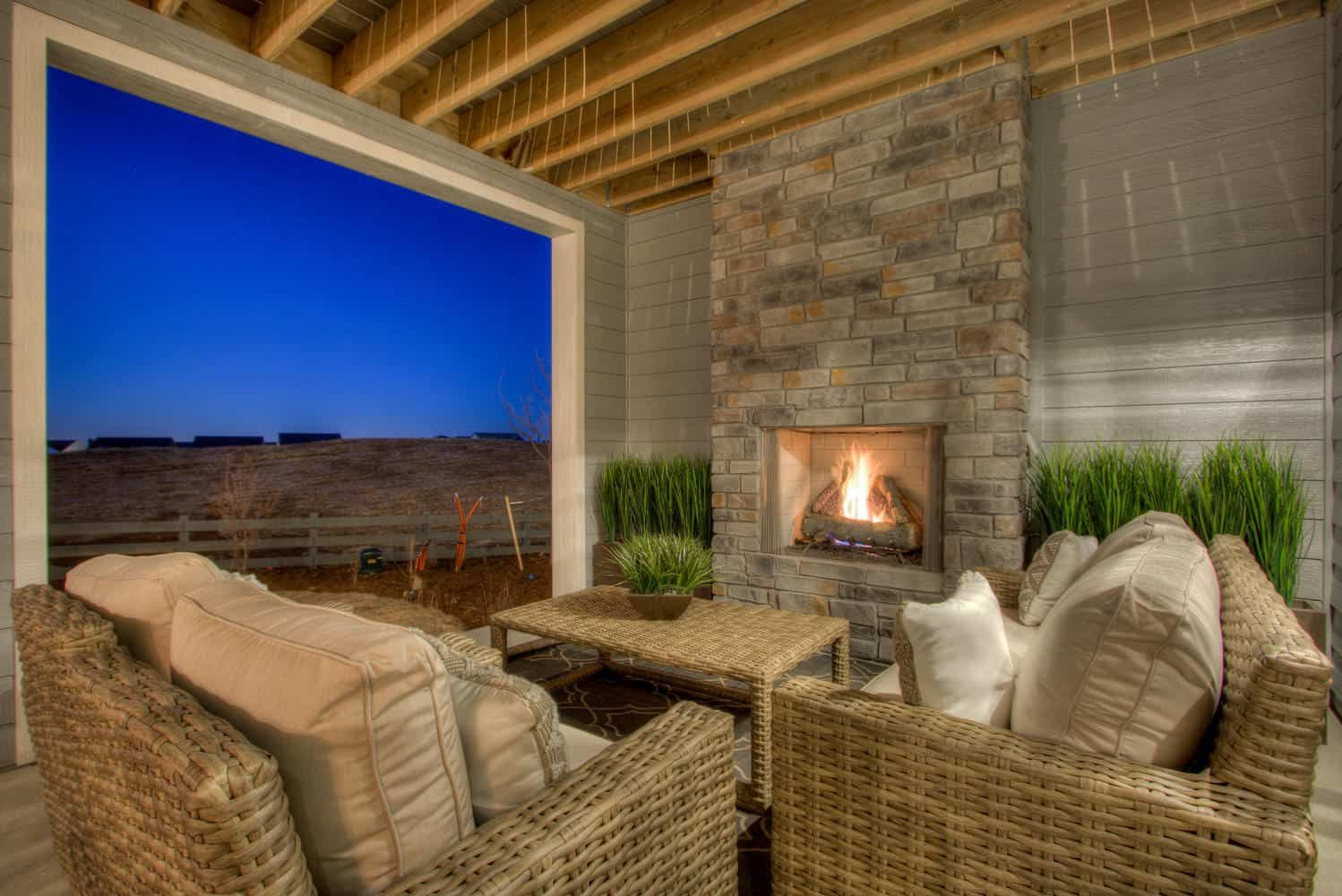 Plan 4505 | Covered Patio:Example of Plan 4505 | Covered Patio