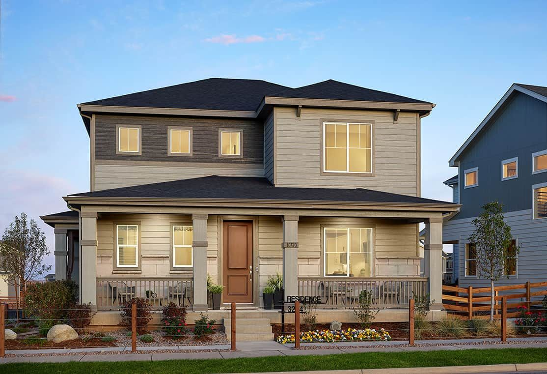 Plan 3204 Model Home | Modern Prairie Style Exteri:Plan 3204 Model Home | Modern Prairie Style Exterior