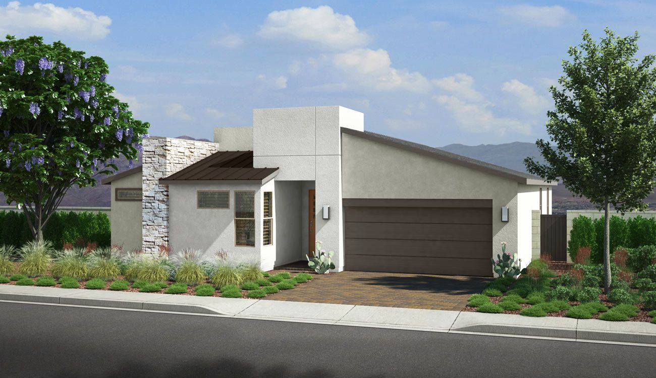 PLAN 5 - EXTERIOR B:Desert Contemporary
