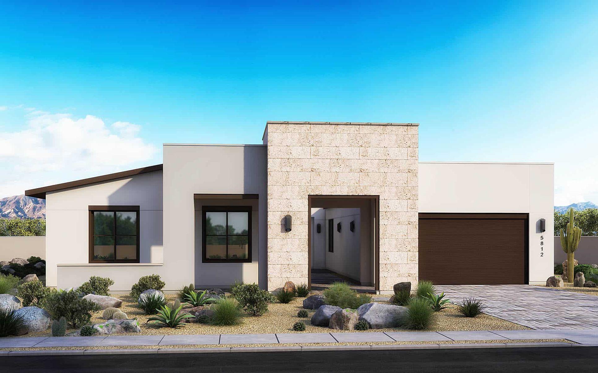 Desert Modern:Elevation B