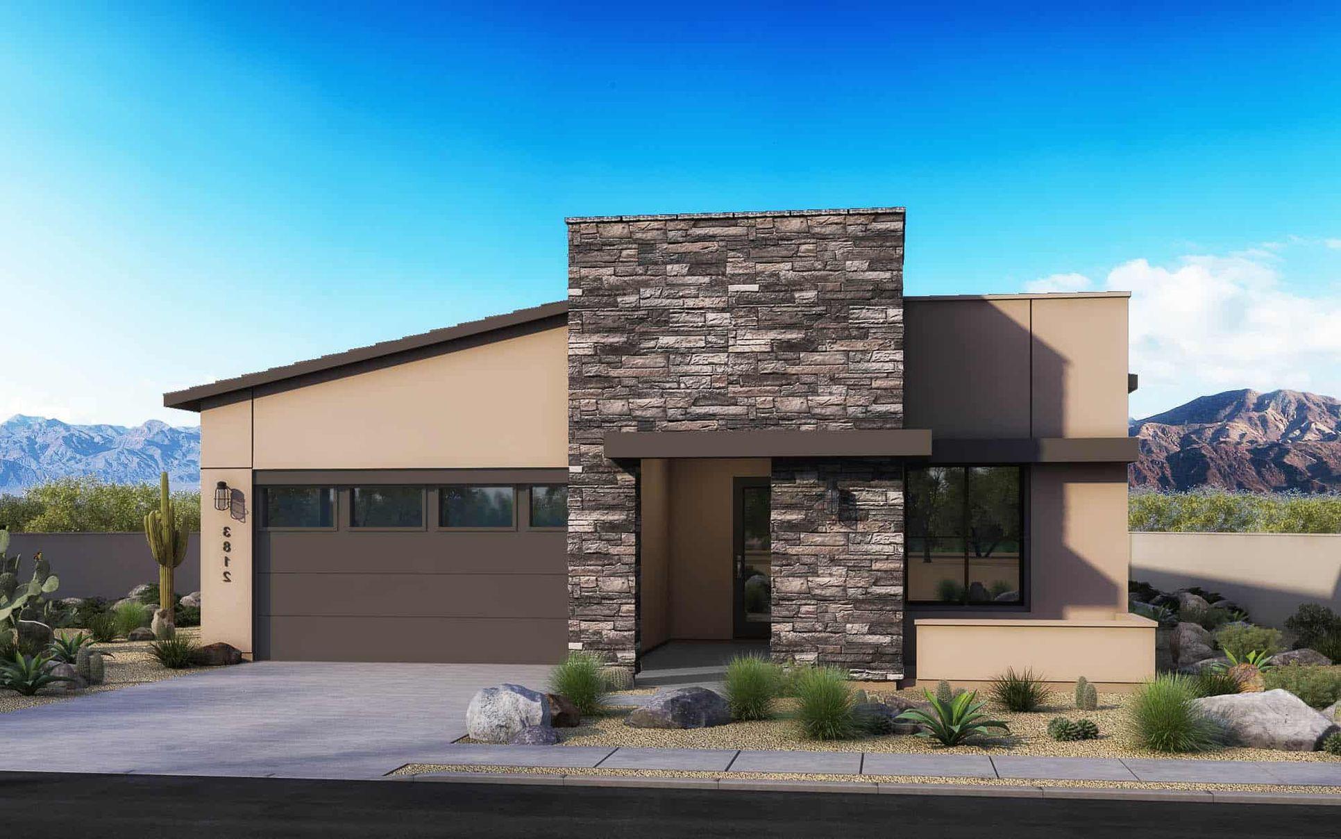 Arizona Modern:Elevation C