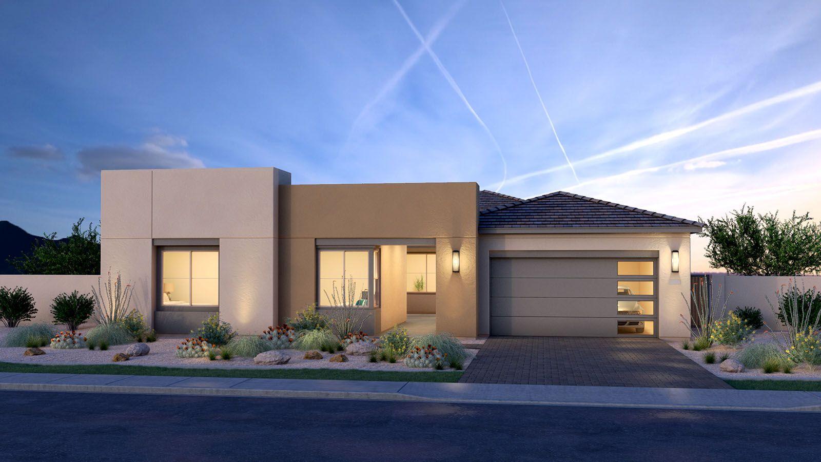 MH-residence-Canopy-South-58-5-C-DUSK-R:Modern Southwest Elevation