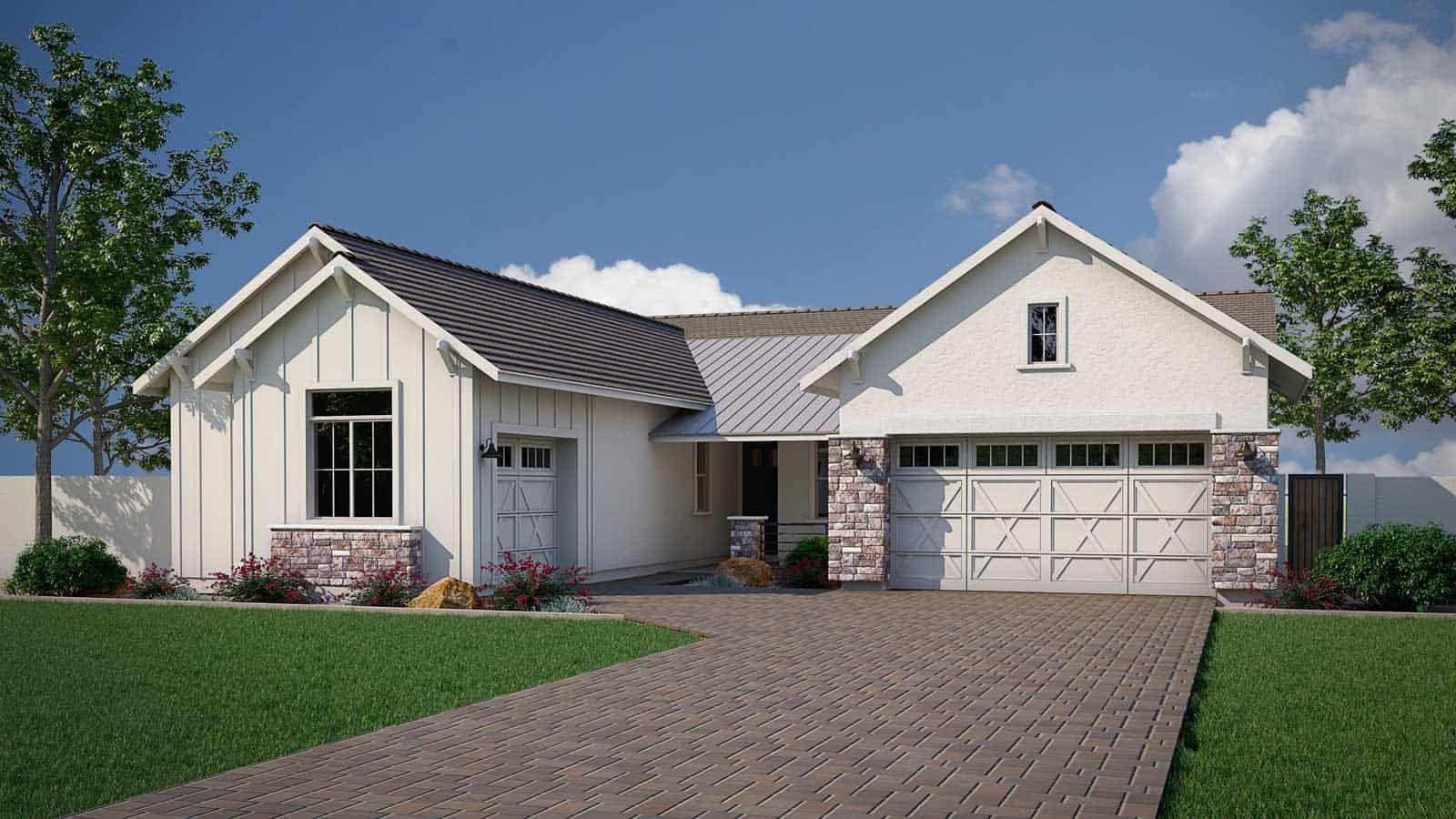Modern Farmhouse:Modern Farmhouse Elevation