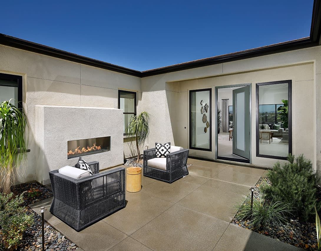 The Highlands Plan 1 Model:The Highland Plan 1 Entry Courtyard