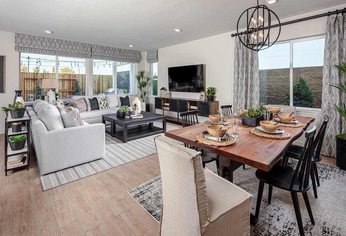 Interior:Plan 3 Dining & Great Room